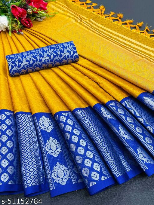 Cotton Silk Saree with Chexs Look