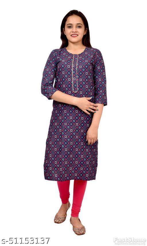 Women's Ethnic Wear Multicolor Printed Straight Kurti