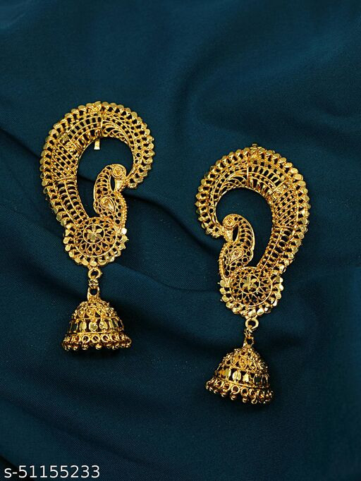 Spargz Traditional Alloy Gold Plated Jhumki Earring For Women