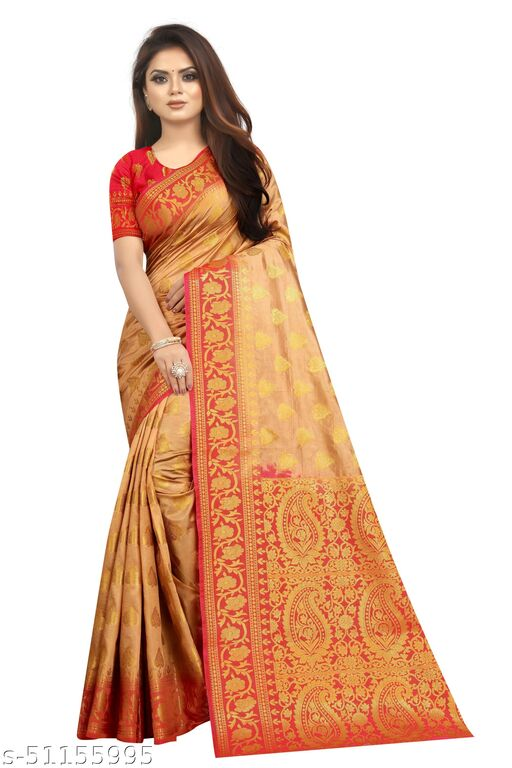 SHREE CLOTHING Women's Soft Silk Saree with Unstitched Blouse Piece