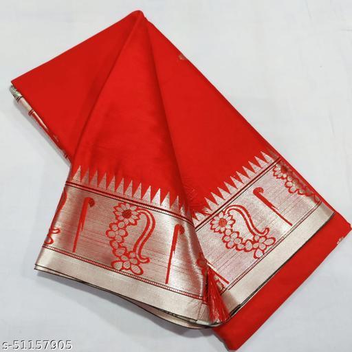 Soft Cotton Silk Banarasi Jacquard Bordered Saree
