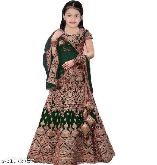 Modern Fancy Kids Girls Lehanga Cholis