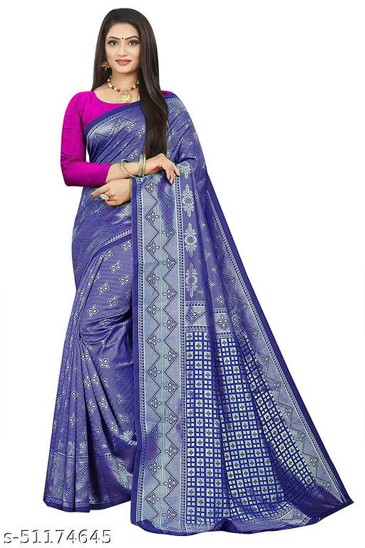 Beautiful Aura Silk Cotton Saree With Exclusive pearl Blouse