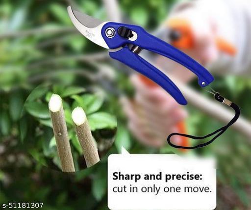 Flower Cutting Cutter Pruning Bypass Secateurs Trimmer Carbon Steel Blade with Lock Set of 1 Ratchet Pruner