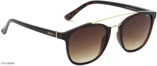 IDEE-S2364-C3 52mm Medium Retro Square Brown Gradient Sunglasses