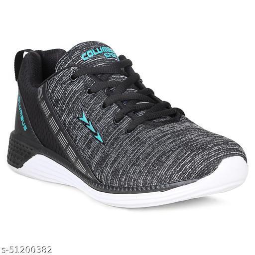 Columbus TB-1010 Black-Aqua Sport Running Shoes For Men's