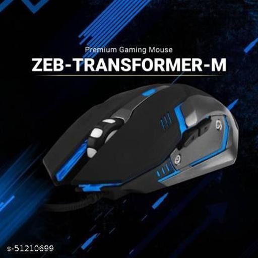 ZEBRONICS ZEB-TRANSFORMER-M Wired Optical Gaming Mouse  (USB 3.0, Black)