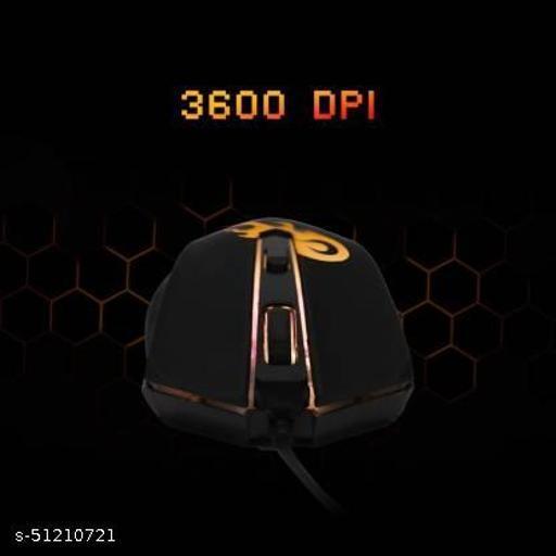 ZEBRONICS Zeb-Clash Wired Optical Gaming Mouse  (USB 2.0, USB 3.0, Black)