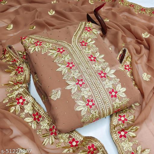 Women fancy dress material salwar suit set with dupatta