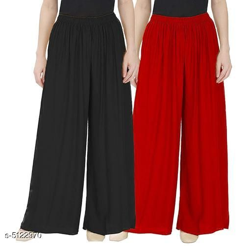 New Attractive Women's Palazzos (Pack Of 2)