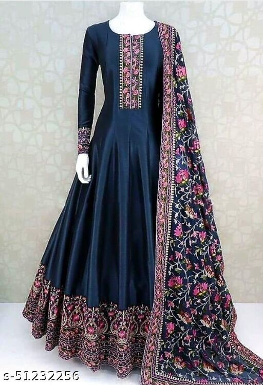 Trendy Look Floor Touch Gown Embroidery Vikafab Gown