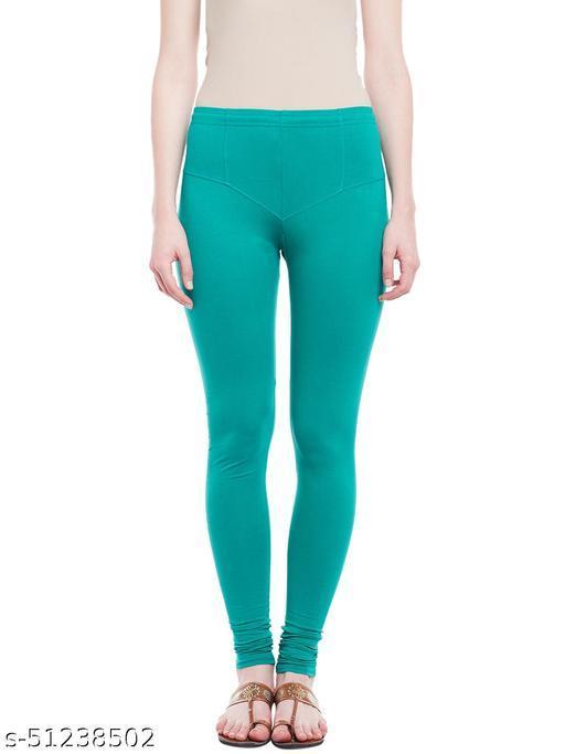 Cotton Lycra Churidar Legging For Women's & Girl's (4 Way Stretchable)