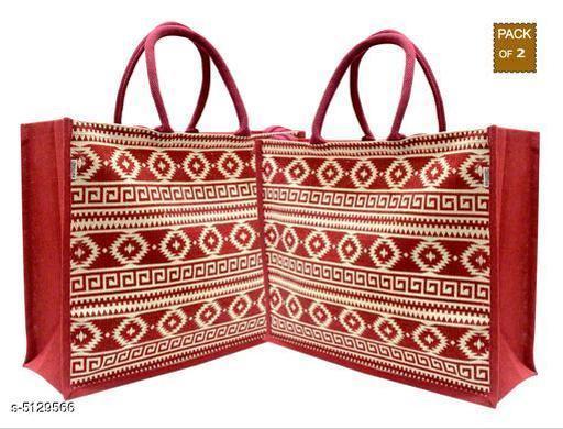 Attractive Women's Maroon Jute Handbag