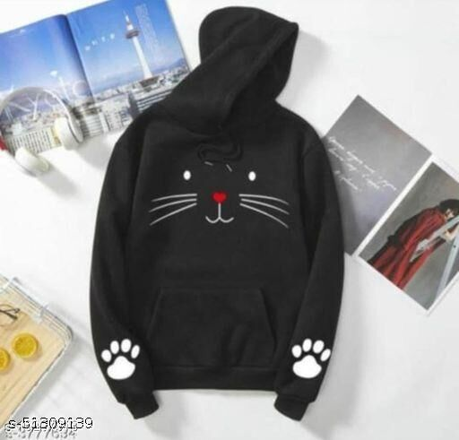 huddy cat print sweatshirt for grils