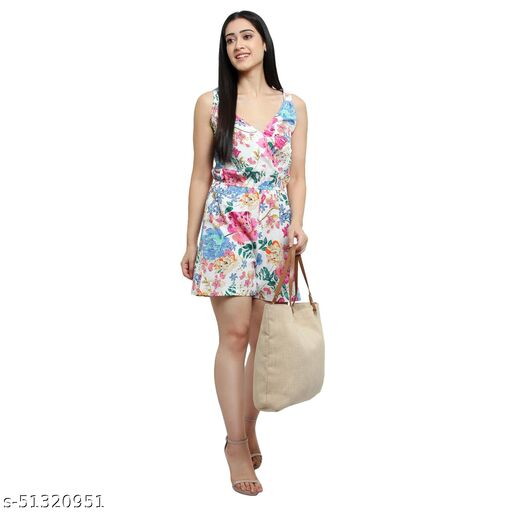 Arya Deep Women's New Trendy Stylish Design Short Regular Jumpsuit