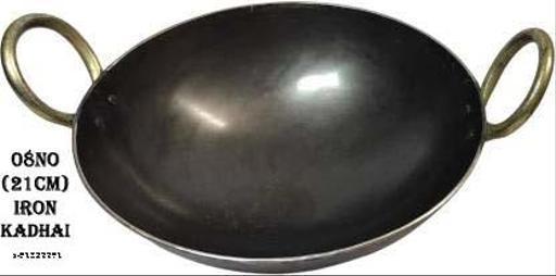 VCH 21 cm (08 no) Pure Iron Kadai