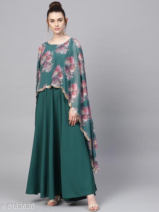 Ahalyaa Women's Floral Printed Crepe Kurti