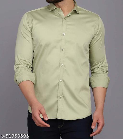 Men's Satan Party Wear Formal Shirt Solid Regular Fit Full sleeve Shirt