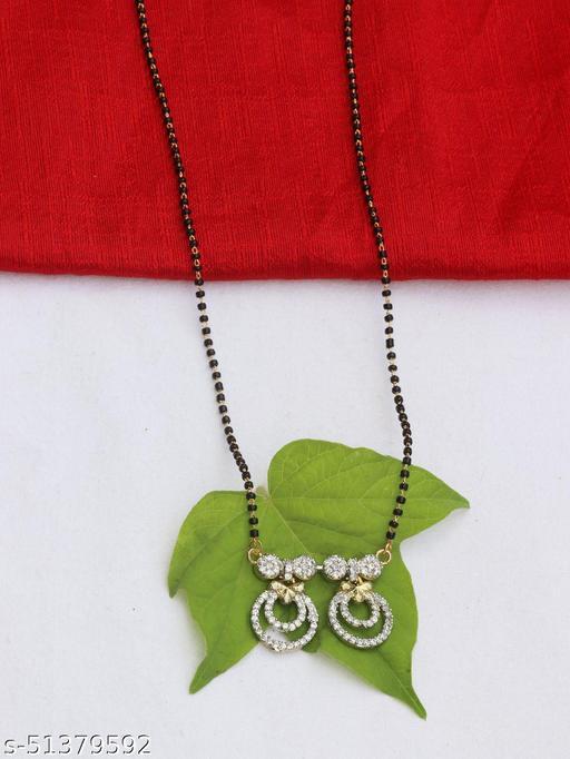 Latest Fashionable American Diamond Alloy Mangalsutra