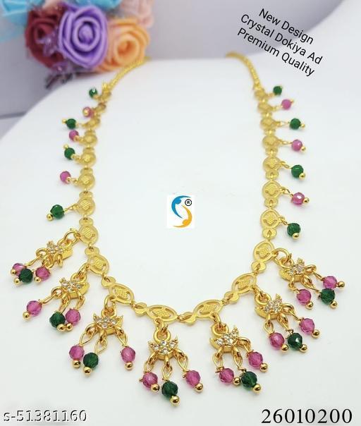 New design premium quality high gold plated ad stone kemp stone designer layer chain.