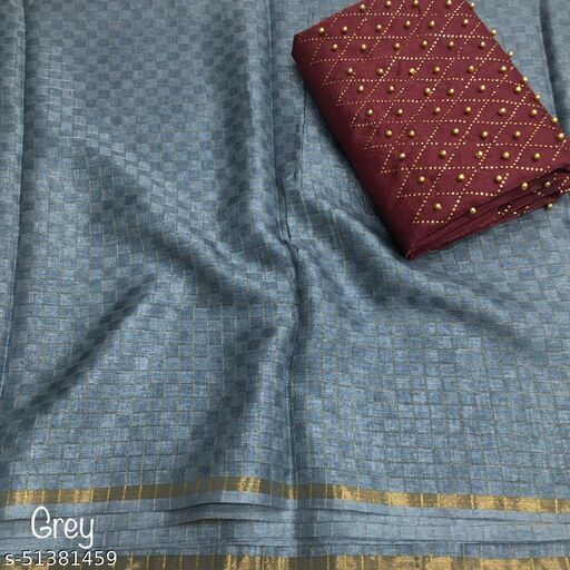RED CLOUD Manipuri Chex cotton fabric Saree with hevay hotfix stone Work Blouse
