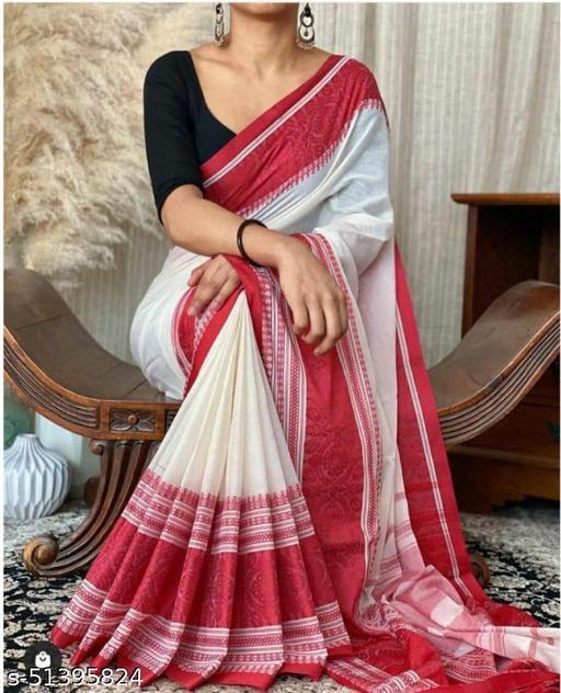 Alisha New Khadi Cotton Saree