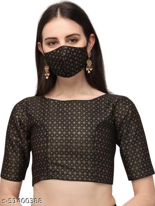 jequard black blouse0013