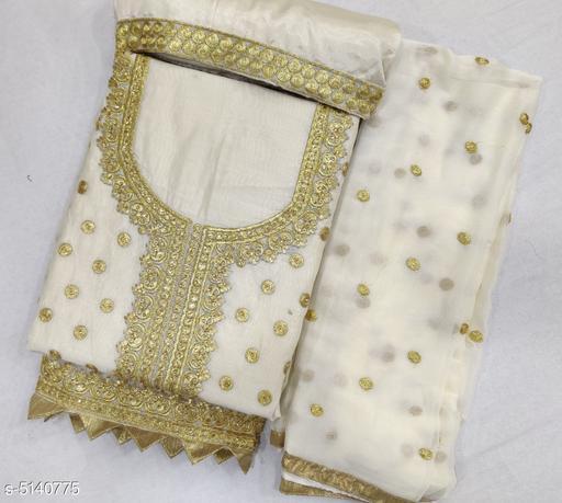 Fancy Chanderi Cotton Women's Suits & Dress Material