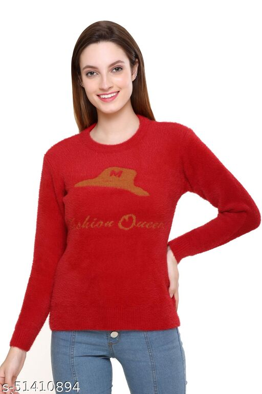 Clapton Acrylic Blend V Neck Full Sleeve Casual Solid Winter Wear Cardigans For Women Onion