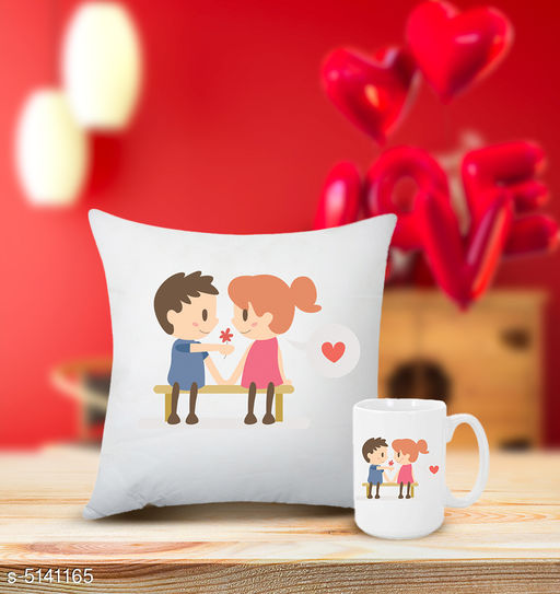 Trendy Coffee Mugs With Cushion Cover Combo
