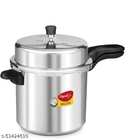 Pigeon Deluxe 12 L Pressure Cooker  (Aluminium)