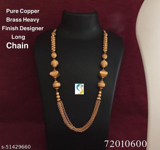 New design premium quality heavy finish golden matte superb designer chain. Jewellery itself has no