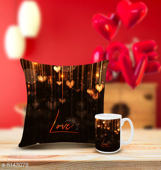 Divine Trendy Mugs With Cushion Cover Combo