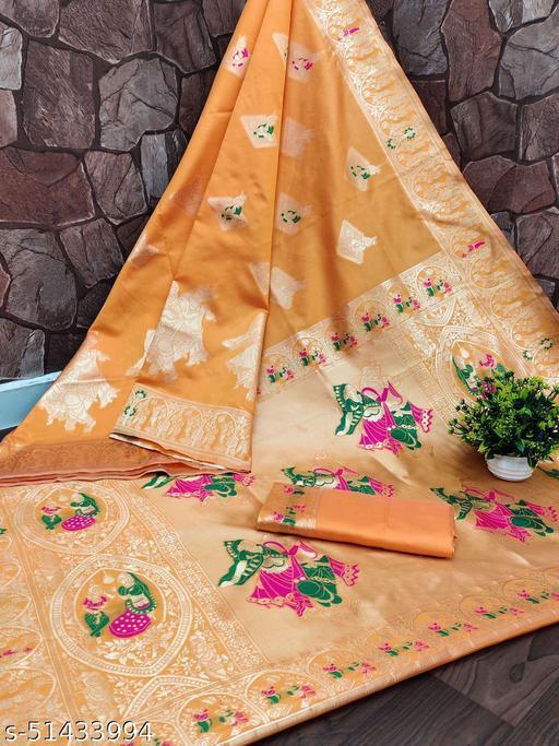 Womens kanjivaram fancy traditional saree