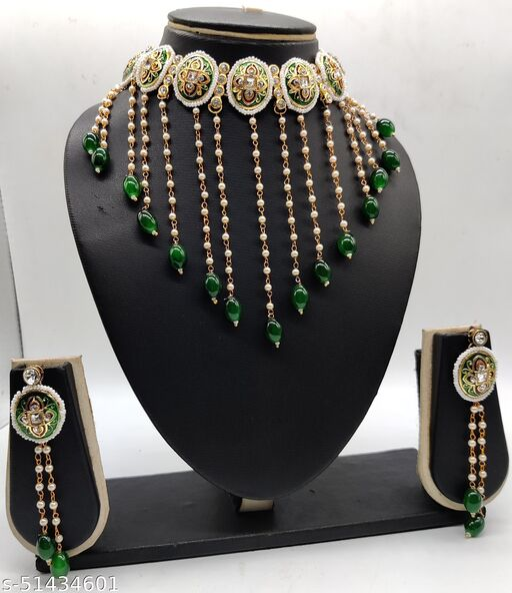 Meenakari Jewellery Choker Necklace Set