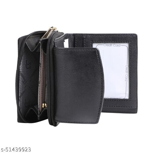2021 Latest Fold Stylish Premium Leather Wallet for Women with 3 Compartment | Gift for Men Light Weight Wallet