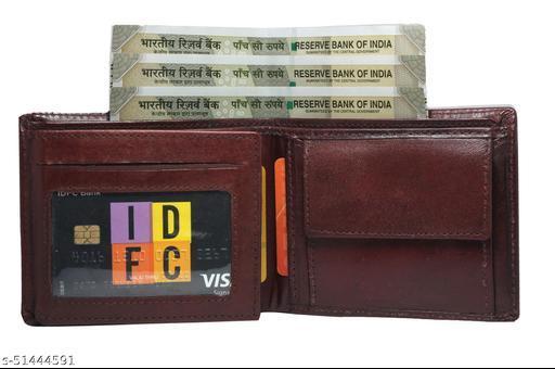 Trendy Men's LeatHLr Wallets I Stylish Men's leatHLr Wallet I DARK BROWN LEATHLR WALLET CARD AND FLAP