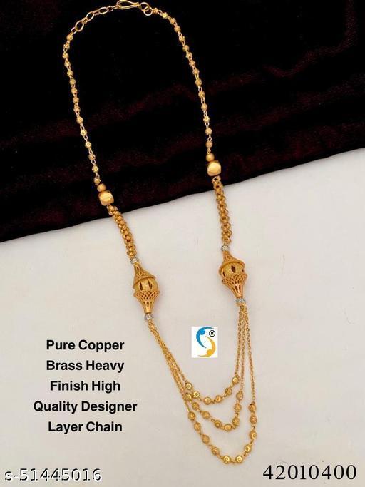 New design premium quality pure copper brass material heavy finish superb layer chain.