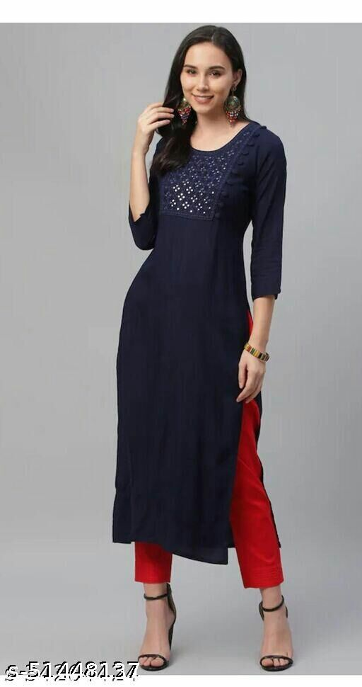 EGF brand Rayon Embroidery kurti with pant