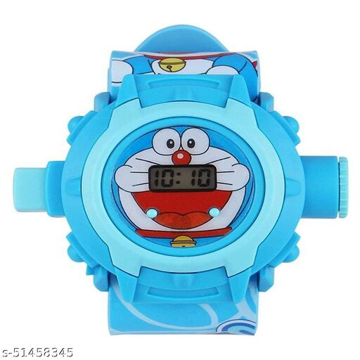Doraemon 24 Images Projector Digital Toy Watch for Kids