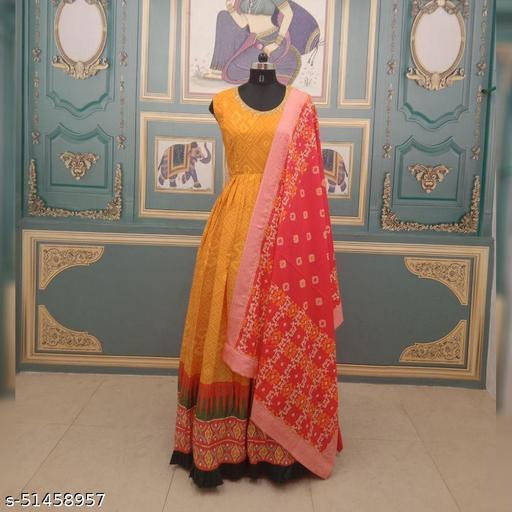 AG-7022 Bandhni Patola Dress