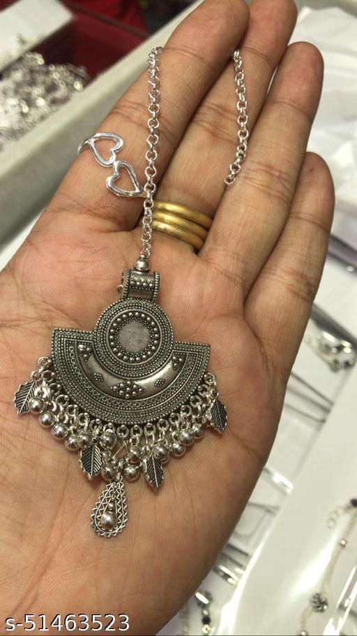 New & Trendy Silver Oxodised Maangtika