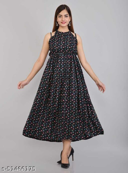 Women Fit and Flare  Printed Dress for Women