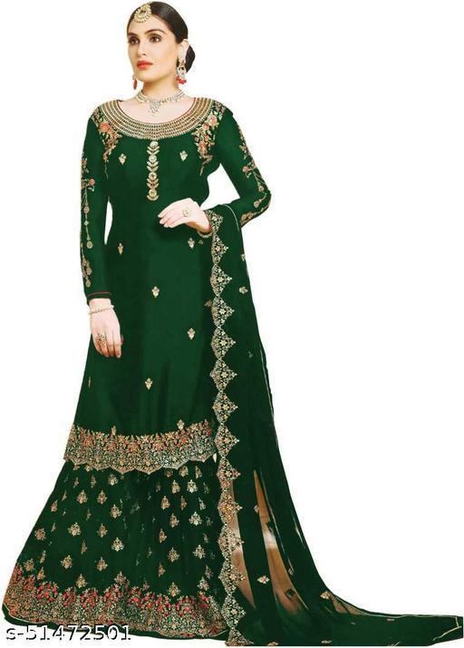 Women Georgett Semi Stiched Salwar Suit