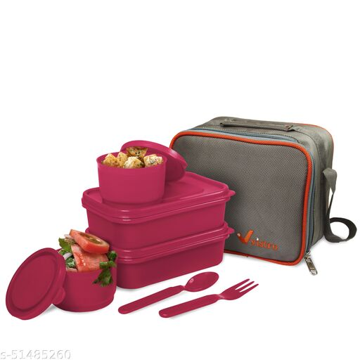 Classic Vistro (4container with Lunch bag)  DE'BAGS