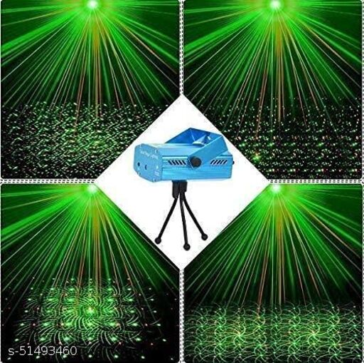 SAPNIX Mini LED Laser Disco Decorative Light Self- propelled Sound Activated Stage Lamp for Birthday Decoration, Navratri and Diwali Festival Decoration