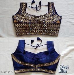 Pretty Fantom Silk Embroidered Blouse