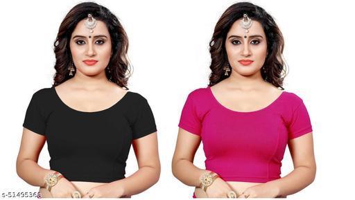Blouse ready made for saree and choli plain stretchable