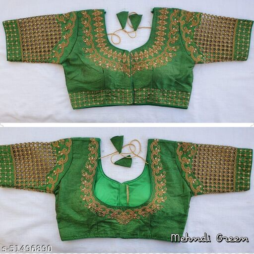 Festive wear fentam embroidery readymade blouse collection