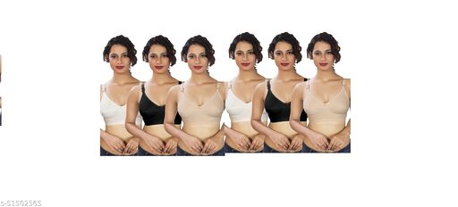 TK PRODUCT women full coverage non-padded non-wired broad belt bra(pack of 6)